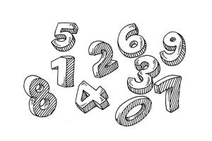 Редактирование текста - цифры